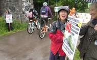 The posted image Bridge Protest big bike ride.jpg